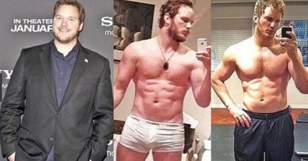chris pratt before and after weight loss