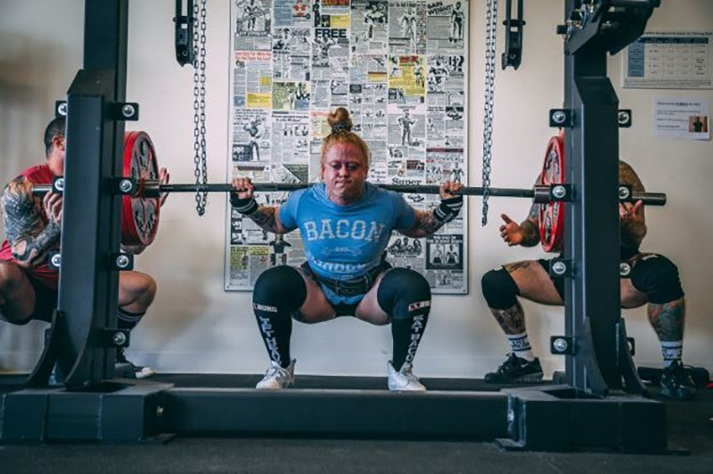 Adding a weights into the squat helps pushing the effectiveness