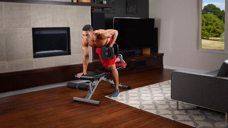Bowflex dumbbells are popular for working out at home